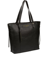 'Hampstead' Jet Black Leather Tote Bag image 5