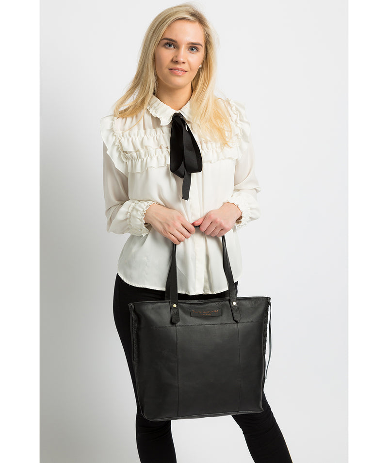 'Hampstead' Liquorice Leather Tote Bag