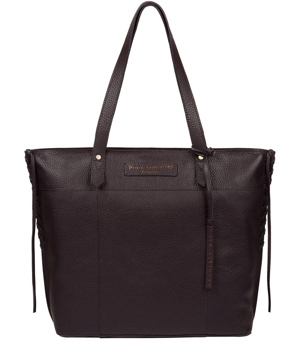 'Hampstead' Plum Leather Tote Bag image 1