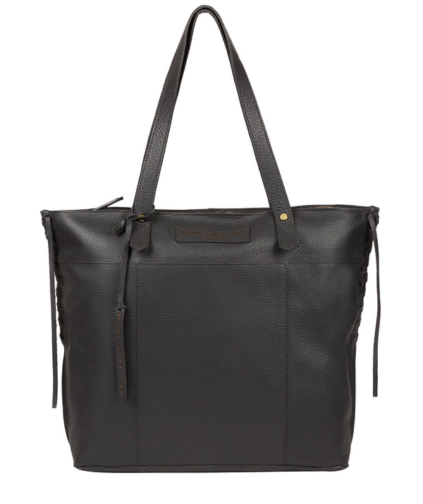 'Hampstead' Slate Leather Tote Bag image 1