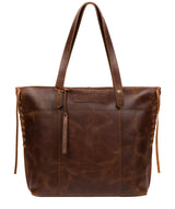 'Hampstead' Vintage Brown Leather Tote Bag image 1
