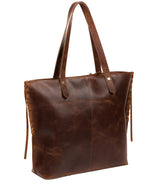'Hampstead' Vintage Brown Leather Tote Bag image 3