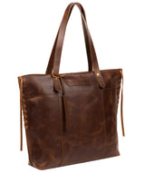 'Hampstead' Vintage Brown Leather Tote Bag image 5