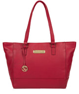 'Sophie' Berry Red Leather Tote Bag image 1