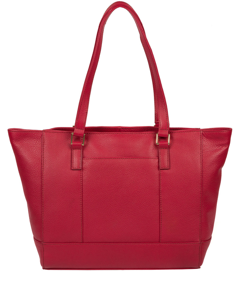 'Sophie' Berry Red Leather Tote Bag image 3
