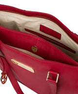 'Sophie' Berry Red Leather Tote Bag image 4
