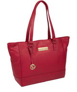 'Sophie' Berry Red Leather Tote Bag Pure Luxuries London