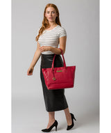 'Sophie' Berry Red Leather Tote Bag image 2
