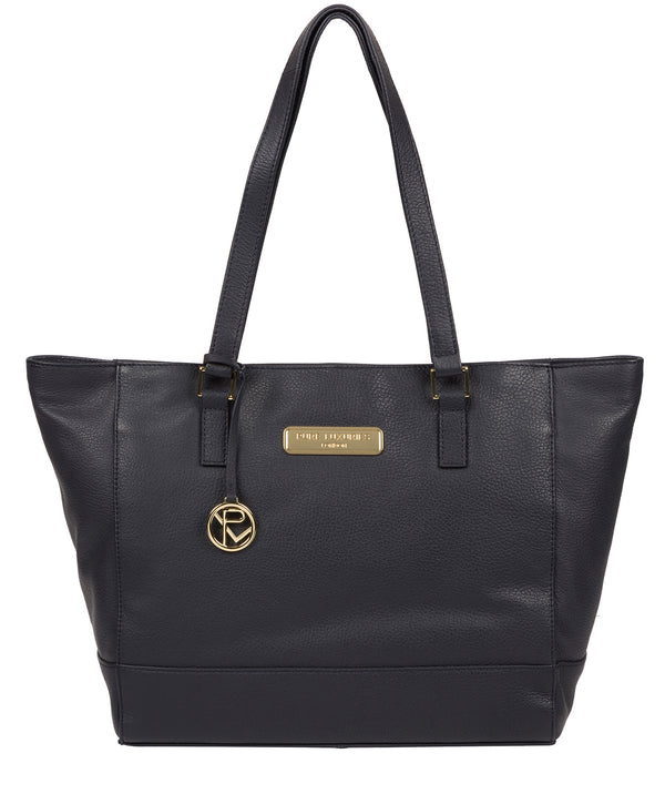 'Sophie' Navy Leather Tote Bag image 1