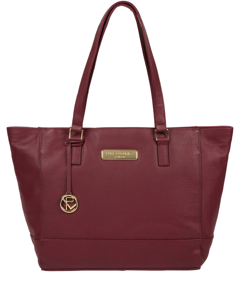 'Sophie' Pomegranate Leather Tote Bag image 1