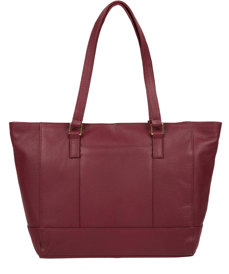 'Sophie' Pomegranate Leather Tote Bag image 3