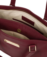 'Sophie' Pomegranate Leather Tote Bag image 4