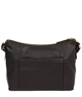 'Jenna' Black Leather Shoulder Bag image 3