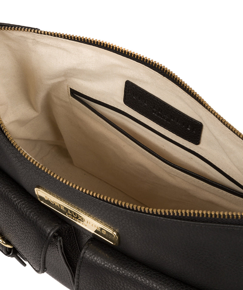 'Jenna' Black Leather Shoulder Bag image 4