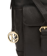 'Jenna' Black Leather Shoulder Bag image 6