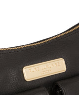 'Jenna' Black Leather Shoulder Bag image 7