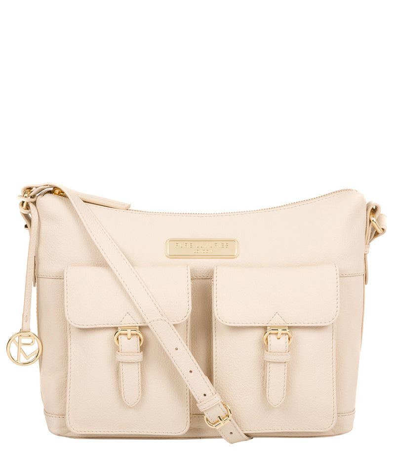 'Jenna' Frappe Leather Shoulder Bag image 1