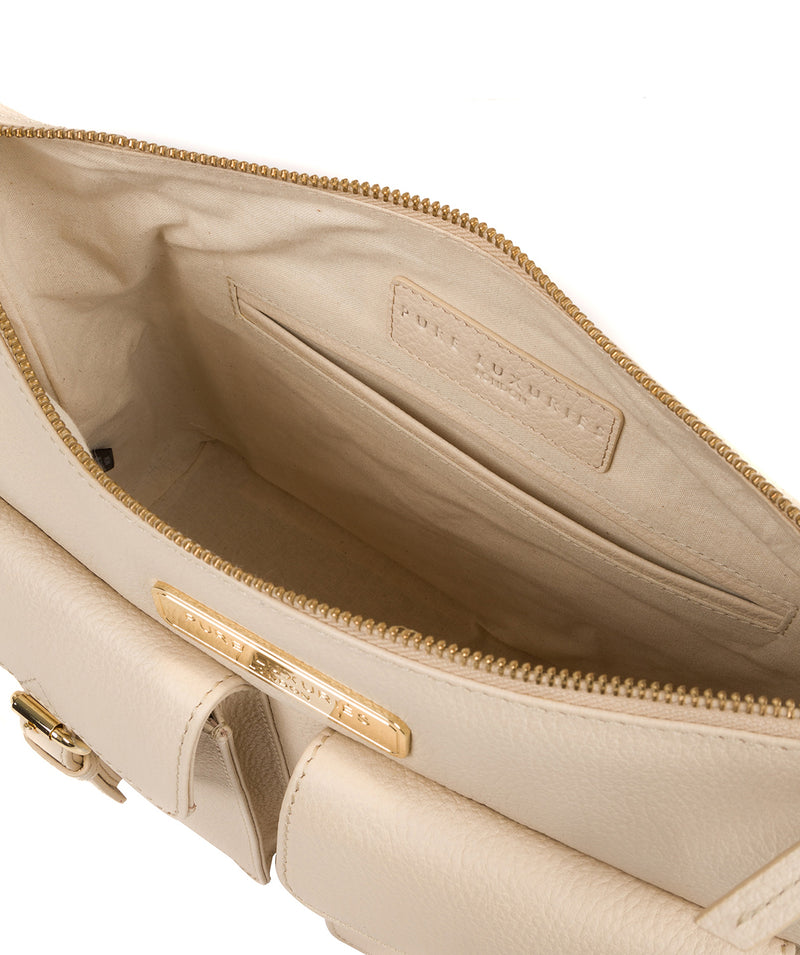 'Jenna' Frappe Leather Shoulder Bag image 4