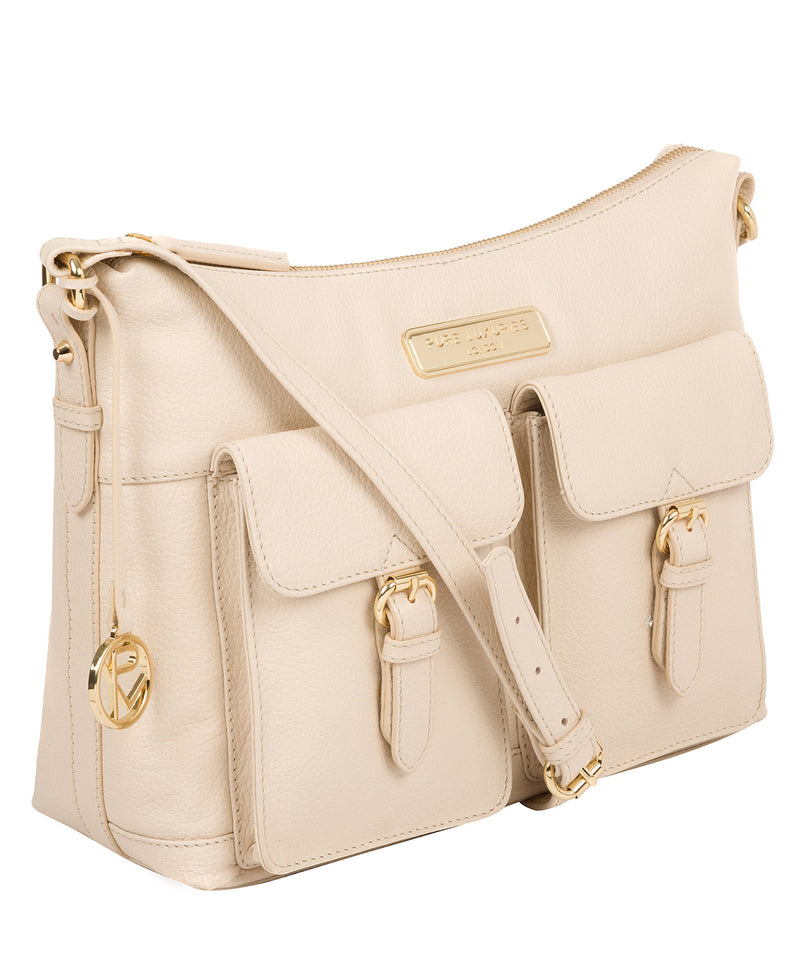 'Jenna' Frappe Leather Shoulder Bag image 5