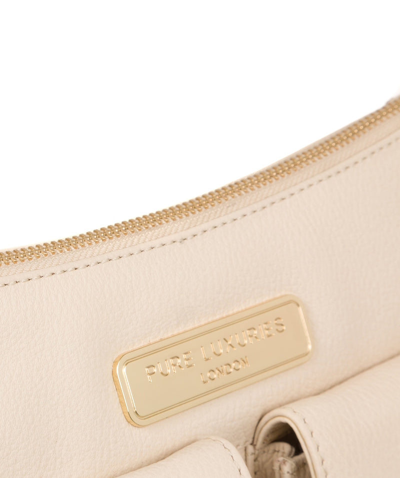 'Jenna' Frappe Leather Shoulder Bag image 7
