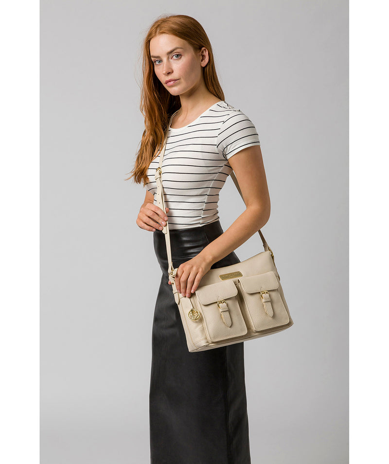'Jenna' Frappe Leather Shoulder Bag image 2
