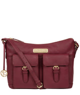 'Jenna' Pomegranate Leather Shoulder Bag image 1