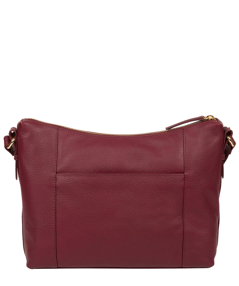 'Jenna' Pomegranate Leather Shoulder Bag image 3