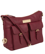 'Jenna' Pomegranate Leather Shoulder Bag image 5