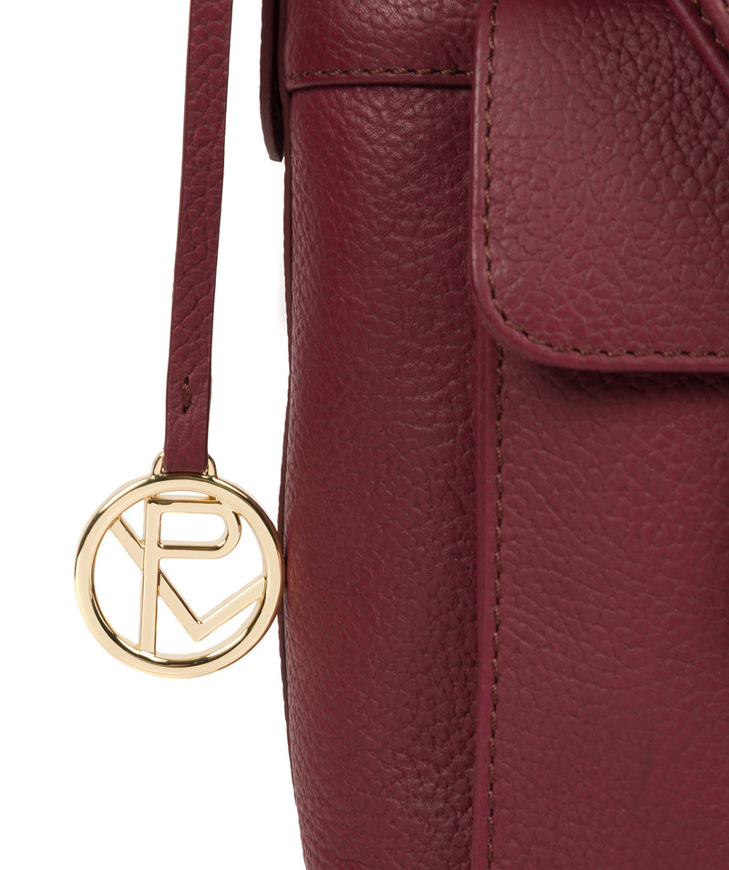 'Jenna' Pomegranate Leather Shoulder Bag image 6