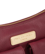 'Jenna' Pomegranate Leather Shoulder Bag image 7