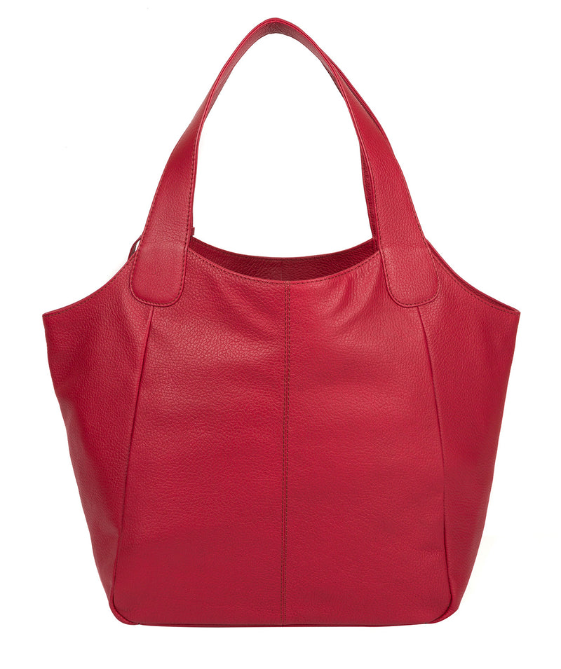 'Roxanne' Berry Red Leather Tote Bag image 3