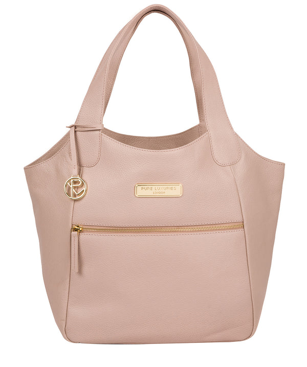 'Roxanne' Blush Pink Leather Tote Bag image 1