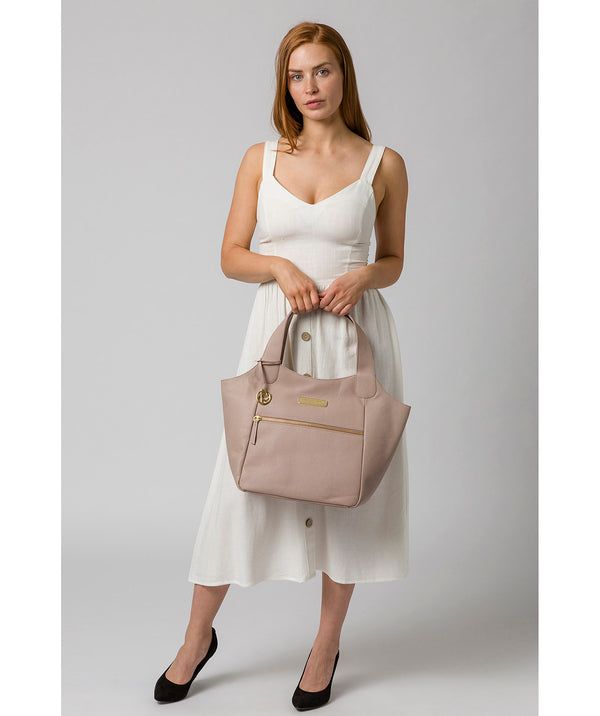 'Roxanne' Blush Pink Leather Tote Bag image 2