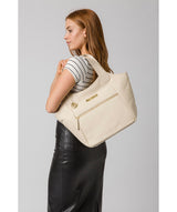 'Roxanne' Frappe Leather Tote Bag image 2