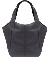 'Roxanne' Navy Leather Tote Bag image 3