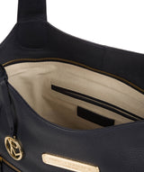 'Roxanne' Navy Leather Tote Bag image 4