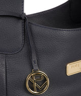 'Roxanne' Navy Leather Tote Bag image 6