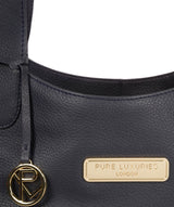 'Roxanne' Navy Leather Tote Bag image 7