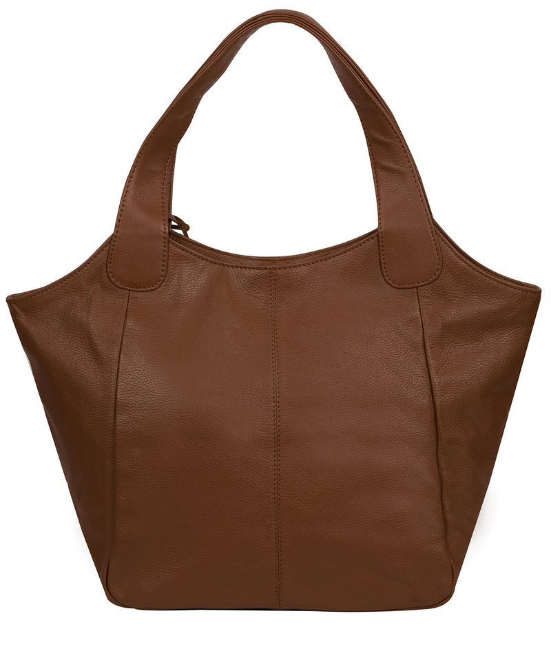 'Roxanne' Tan Leather Tote Bag image 4