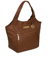 'Roxanne' Tan Leather Tote Bag image 6