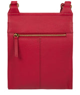 'Naomi' Berry Red Leather Cross Body Bag image 3