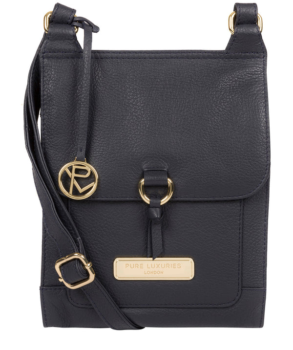 'Naomi' Navy Leather Cross Body Bag image 1