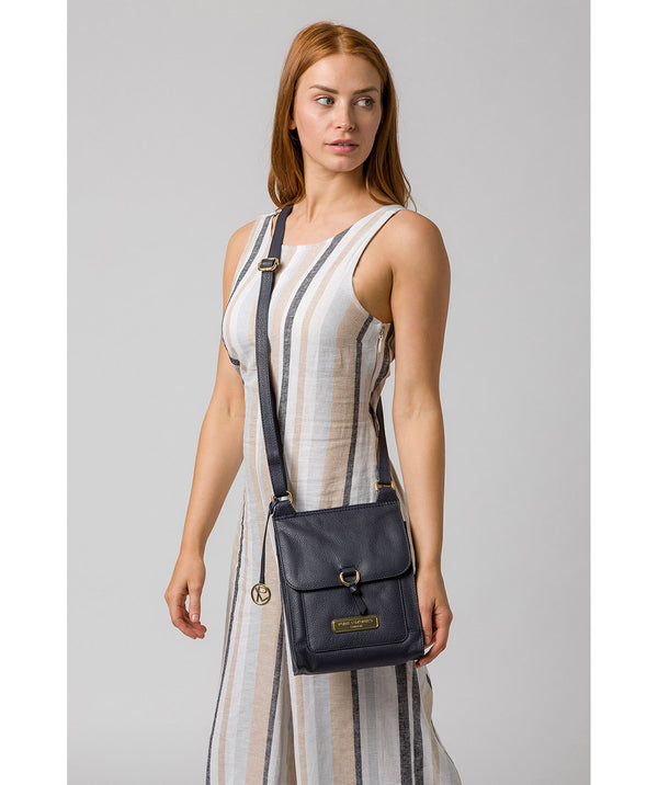 'Naomi' Navy Leather Cross Body Bag image 2