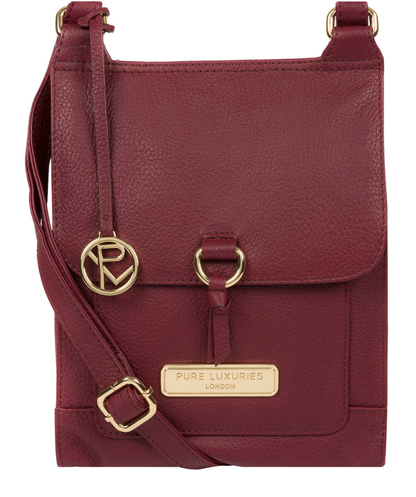 'Naomi' Pomegranate Leather Cross Body Bag image 1