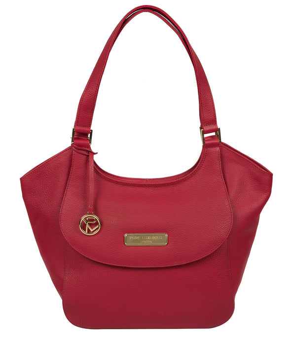 'Grace' Berry Red Leather Tote Bag image 1