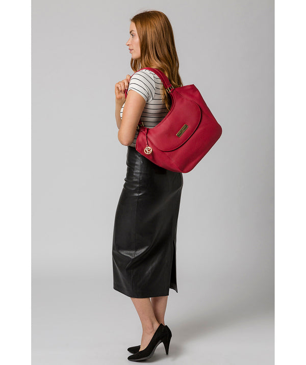 'Grace' Berry Red Leather Tote Bag image 2