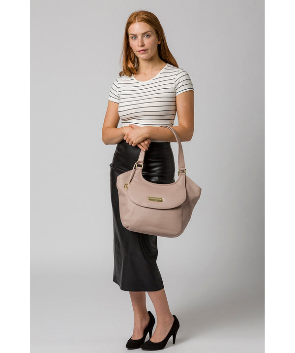 'Grace' Blush Pink Leather Tote Bag image 2