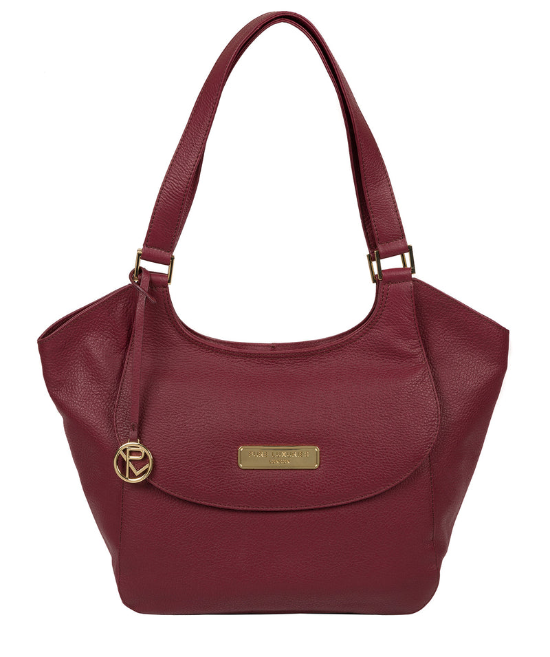 'Grace' Pomegranate Leather Tote Bag image 1