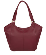 'Grace' Pomegranate Leather Tote Bag image 3