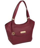 'Grace' Pomegranate Leather Tote Bag image 5
